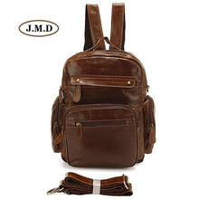 J.M.D New Style Genuine Leather Unisex Fashion Causal Schoolbag New Backpack Multifunctional Design Rucksack Travel Bag 2751B-1 цена 2017