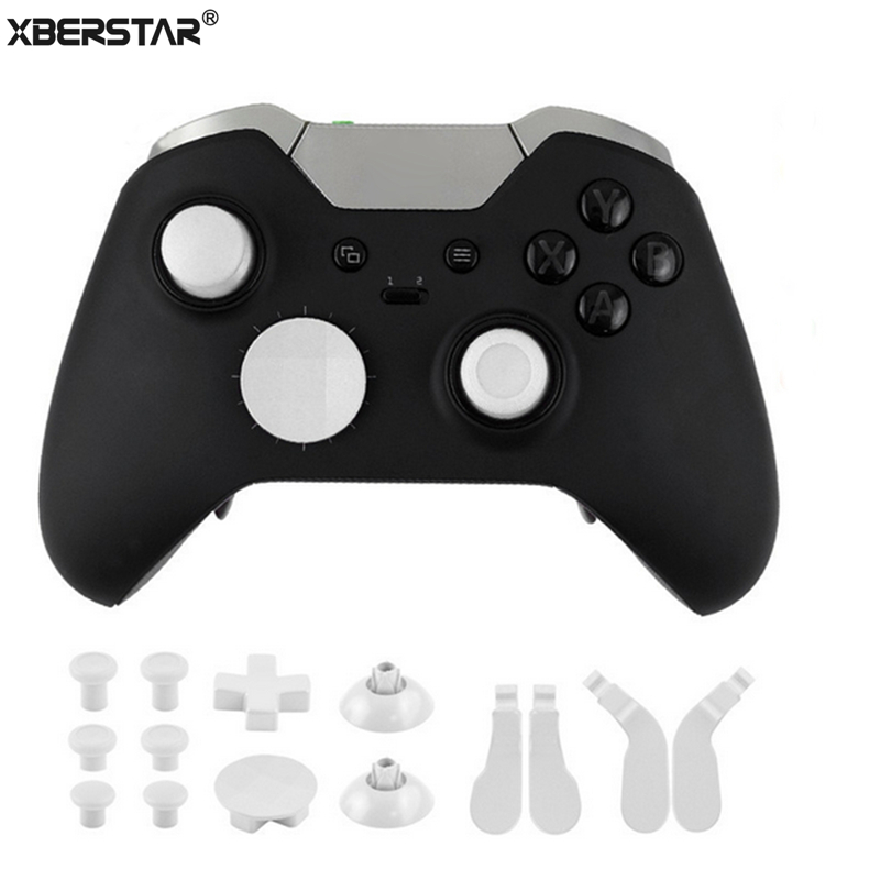 16pcs Spare Parts for Xbox One Elite Wireless Controller Gamepad Joystick Thumb Caps Dpad crisscross screwdriver w/toolReplacement Parts & Accessories   -