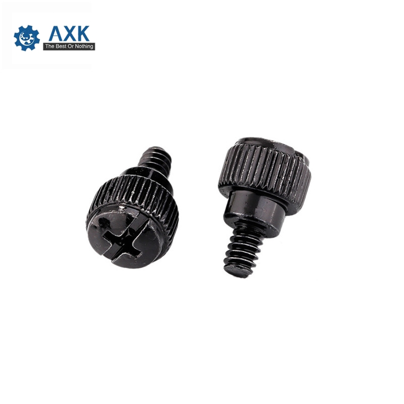 10Pcs 6#-32*6 Thread Teeth Computer PC Case Cooling Fan Toolless Adjustment Screw Thumbscrews Thumb Screw M3.5(China)