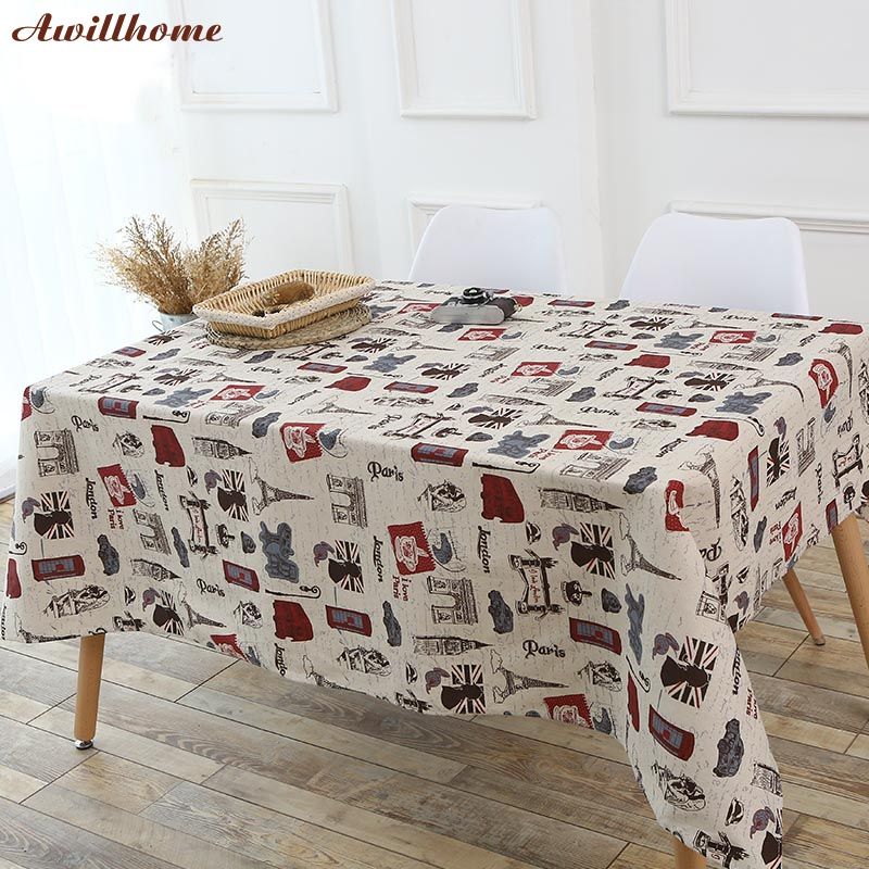 Awillhome 11Size Black White Stripes Tablecloths Home ...