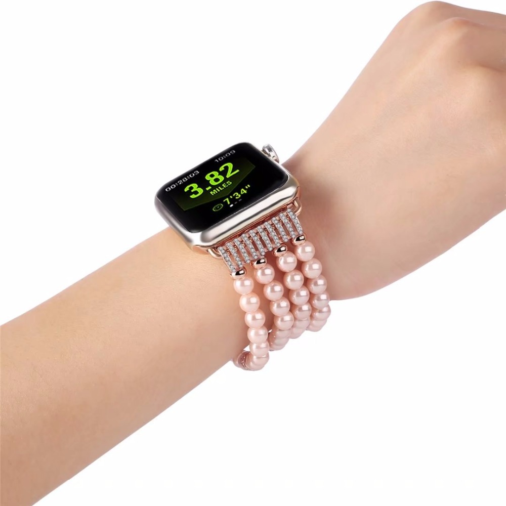 Luxury Ladies Watch Strap For Apple Watch Series 1 2 3 Wrist Band Hand Made By Jewelry Bracelet For Apple Watch Series iWatch