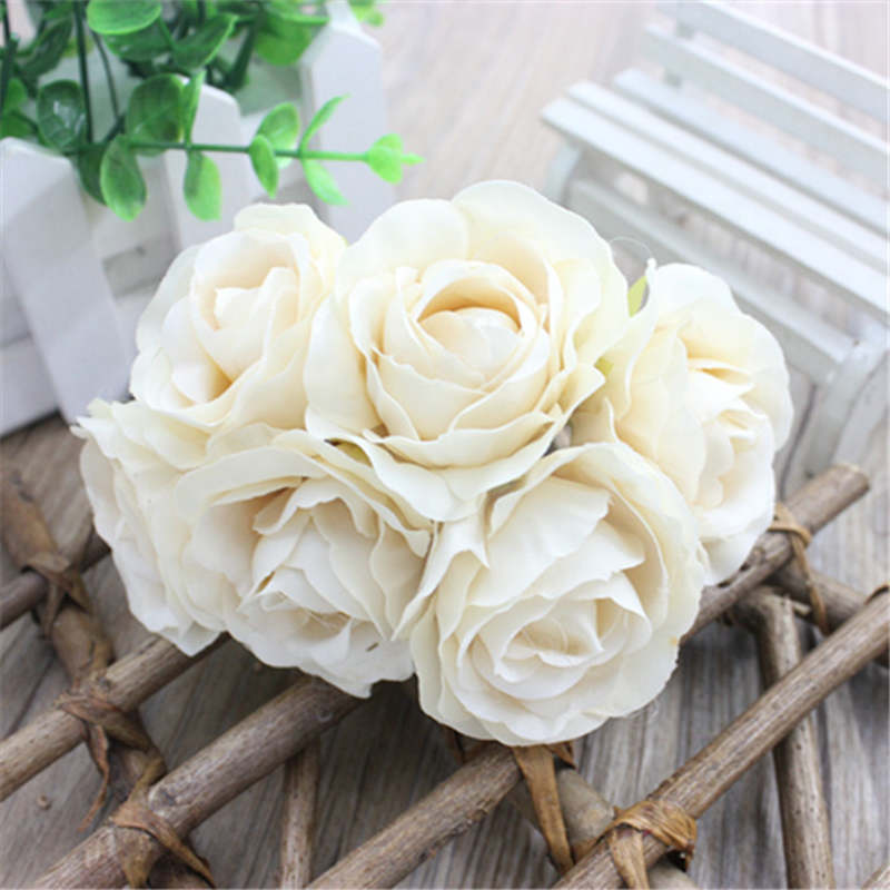 Free Shipping simulation rose bouquet rose series rose flower hand holding flower accessories 24pcs