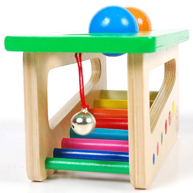 Wooden Sound Knocks Beat Balls Educational Toy For Children Puzzle Baby Material  Ping Pong Table