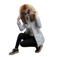 2019 New Fake Fox Fur Collar Parkas Female Women Winter Coat Thick Cotton Winter Jacket Womens Outwear Women Winter down jacket j c ryle light from old times