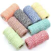 KSCRAFT 2 millimetri Bakers filo di Cotone Naturale del Cavo FAI DA TE/Decorativi Fatti A Mano Corda Per Papercrafting 100 m/roll