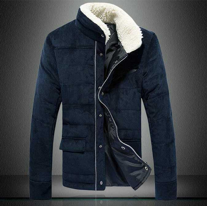 ФОТО 2015 Men's Winter Jacket Fashion Cotton-Padded Corduroy Vintage Outerwear Coat Design Wadded Jacket Big Plus Size Coat H4591