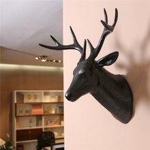 Пластиковые поделки черный голова оленя современный декор настенный Бытовой украшает штук ИСКУССТВО