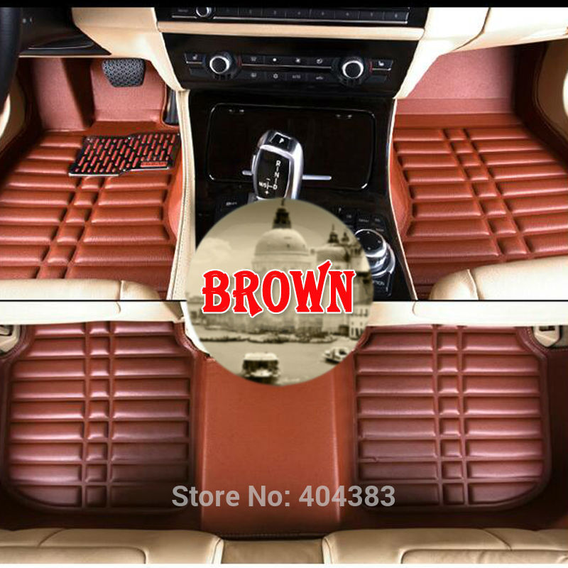 Custom car floor leather mats for Toyota Camry Corolla RAV4 Civic Highlander Land cruiser Reiz 3D car-styling carpet floor liner