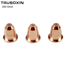 10PCS Plasma Cutter S45 Torch Trafimet Consumables PD0116 Short Cutting Tip 10pcs inverter dc plasma cutter s45 torch trafimet cutting consumables pd0103 long tip