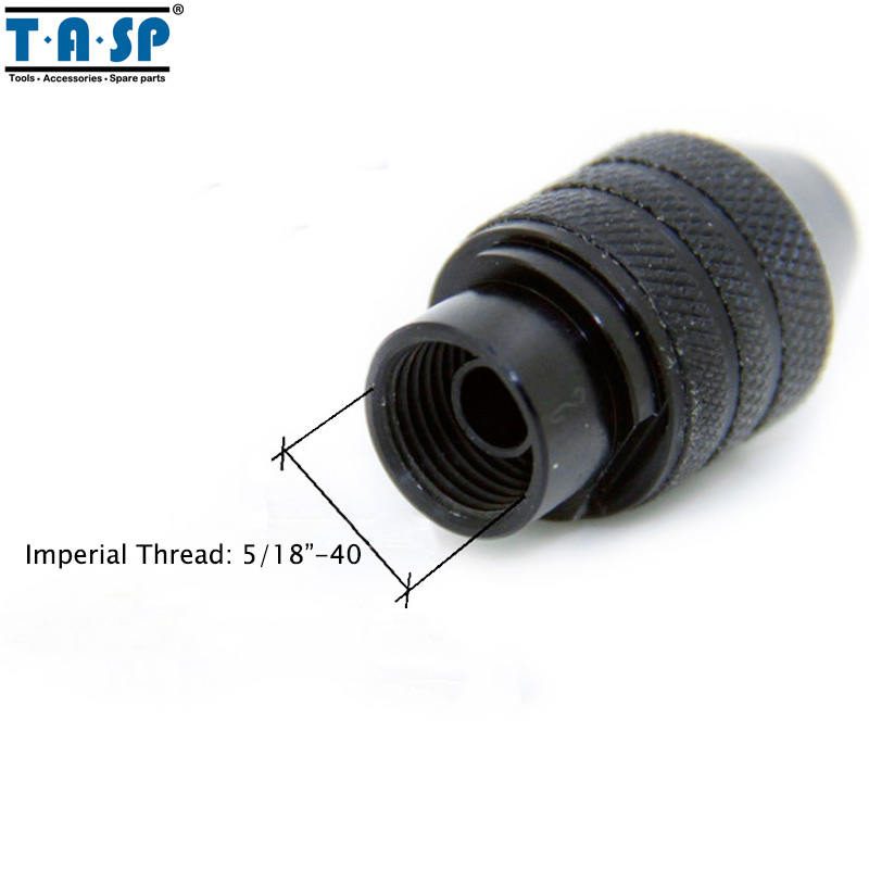 TASP Universal 3 Jaw Keyless Mini Chuck 0.5-3.2mm Collet Mini Drill - パワーツールアクセサリー - 写真 5