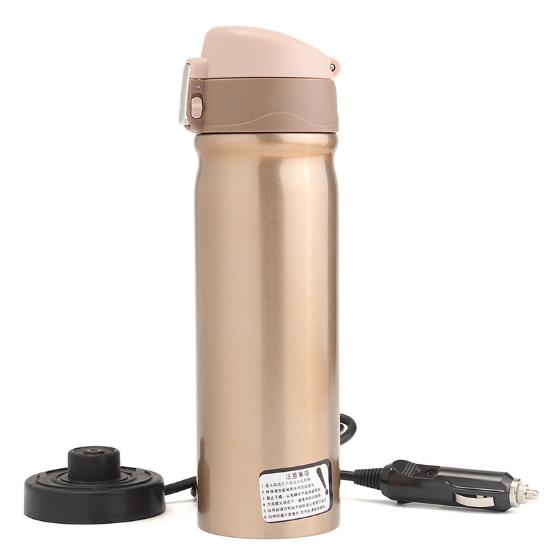 12V 400ml Car Travel Auto Stainless Steel Heating Electric Thermoses Bottle Coffee Tea Cup My Boiling