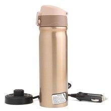 12 V 400 ml Auto Reise Auto Edelstahl Heizung Elektrische Thermosflasche Kaffee Tee Tasse Meine Kochendem Wasser Flasche-Flaschen