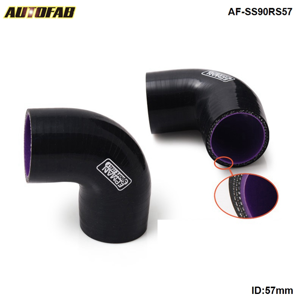 ID 3/'/' 90 Degree Elbow Silicone Hose Pipe Intercooler Coupler Turbo Black 4-PLY
