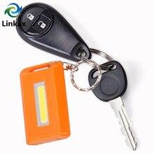 4 Colors Portable Mini Keychain Key Ring LED Flashlight COB