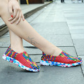 Summer Breathable Mesh Shoes Woman Comfortable Women Shoes Super Light Casual Beach Shoes Rainbow Color Comfort Flats For Woman