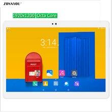 10.1 pulgadas 3G 4G Llamada Tablet PC Android 6.0 Octa Core 4 GB RAM 32 GB ROM Octa Núcleo 1920*1200 IPS Tabletas MEDIADOS de Kid Regalo 10 10.1