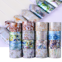 16 Rolls Wholesales Nail Foils Nail Art Transfer Stickers Decal Fashion Set Marble Holographic Design Nail
