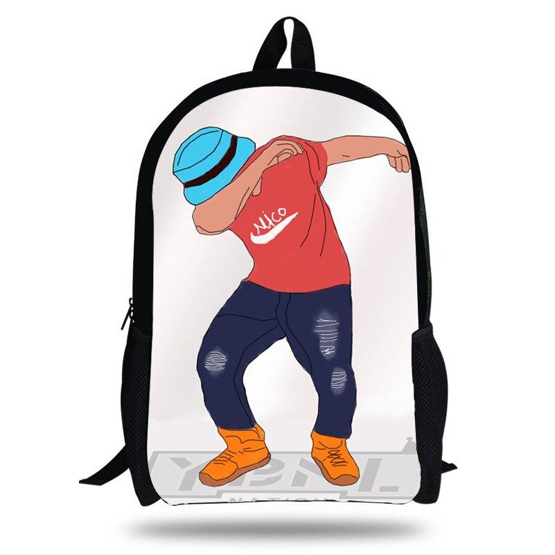 KOLLEGG Dab Panda Unicorn Backpack For Teens Boys Dab On Em Kids Book Bag Children School Bags Men Women Hip Hop Backpacks Bag