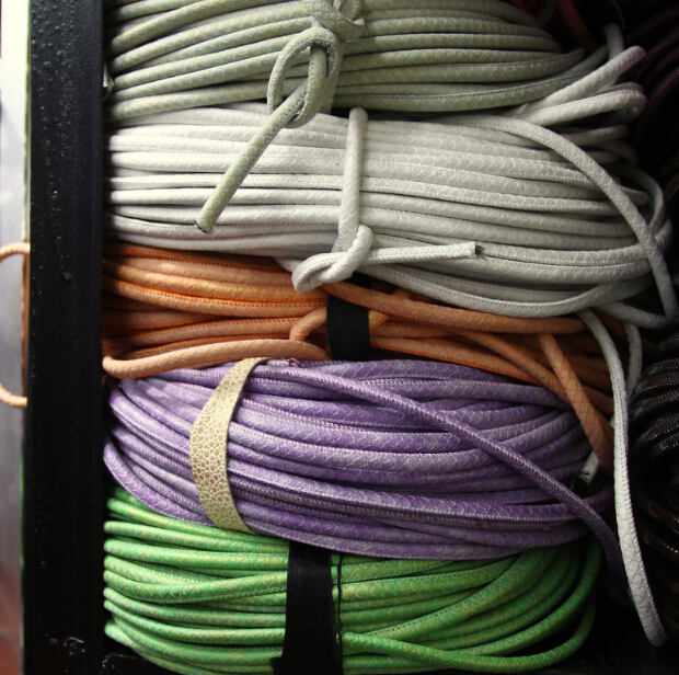 Free Ship 6mm 100 meter muliti color PU Leather Cord, Sewn Suede Leather Cord, Round Leather Cord pu leather suede panel ote
