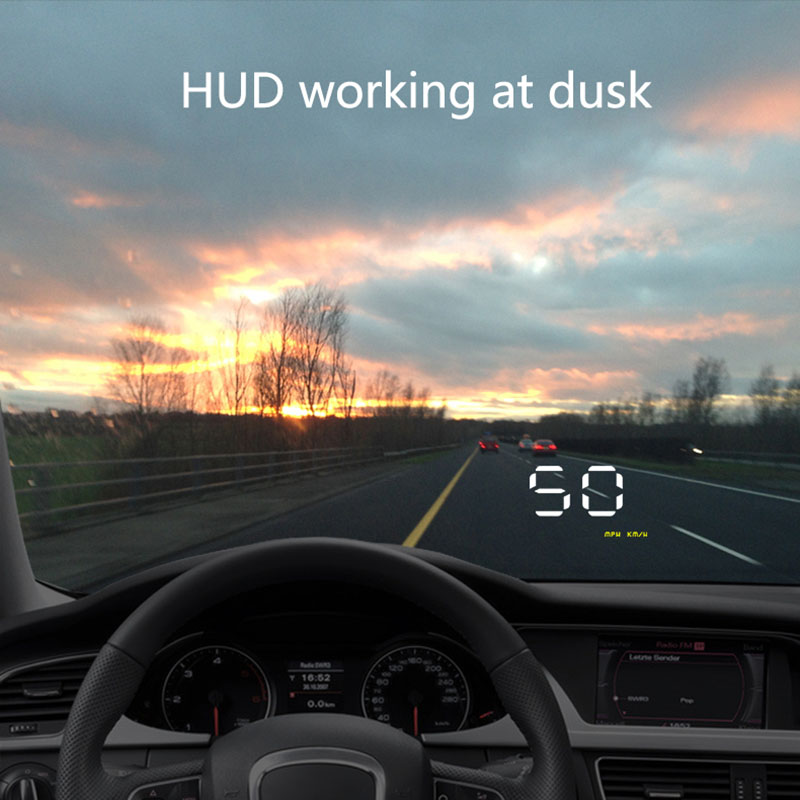 A1000 HUD Car Head Up Display LED Windscreen Projector OBD2 Scanner Speed Warning Data Diagnostic