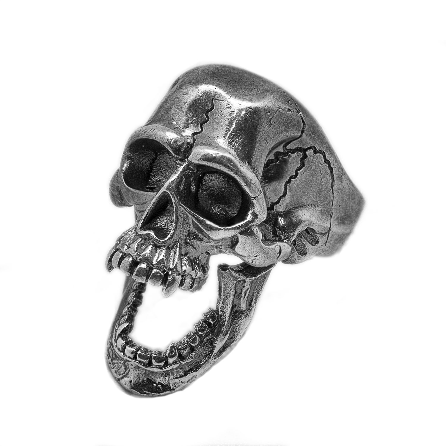Vintage Skeleton Skull Halloween 925 Sterling Silver Adjustable Men Ring 3d skeleton skull print halloween hoodie