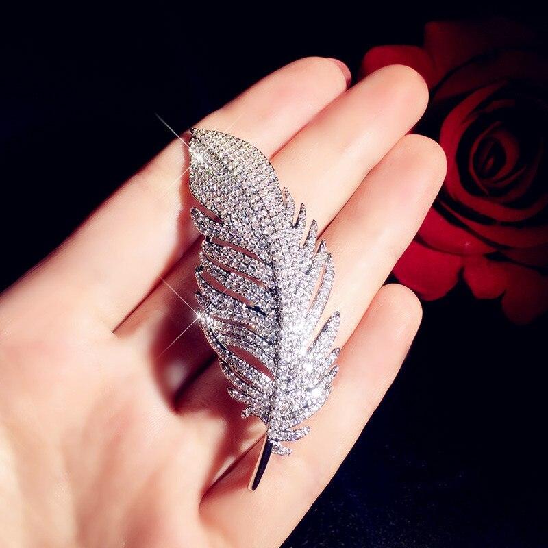 Broches de lujo para mujeres de plumas de Zirconia cúbica joyería fina accesorios de Pin romántico Boutonniere Simple de alta calidad Nuevo edredón de estilo asequible y cómodo edredón de invierno de lujo manta caliente suave edredón 100% tejido de plumas Multicolor elija