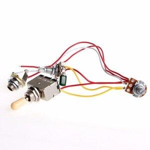 1 шт. жгут проводов для гитары 3Way LP 2 Humbucker тумблер 1V1T 500k прочный