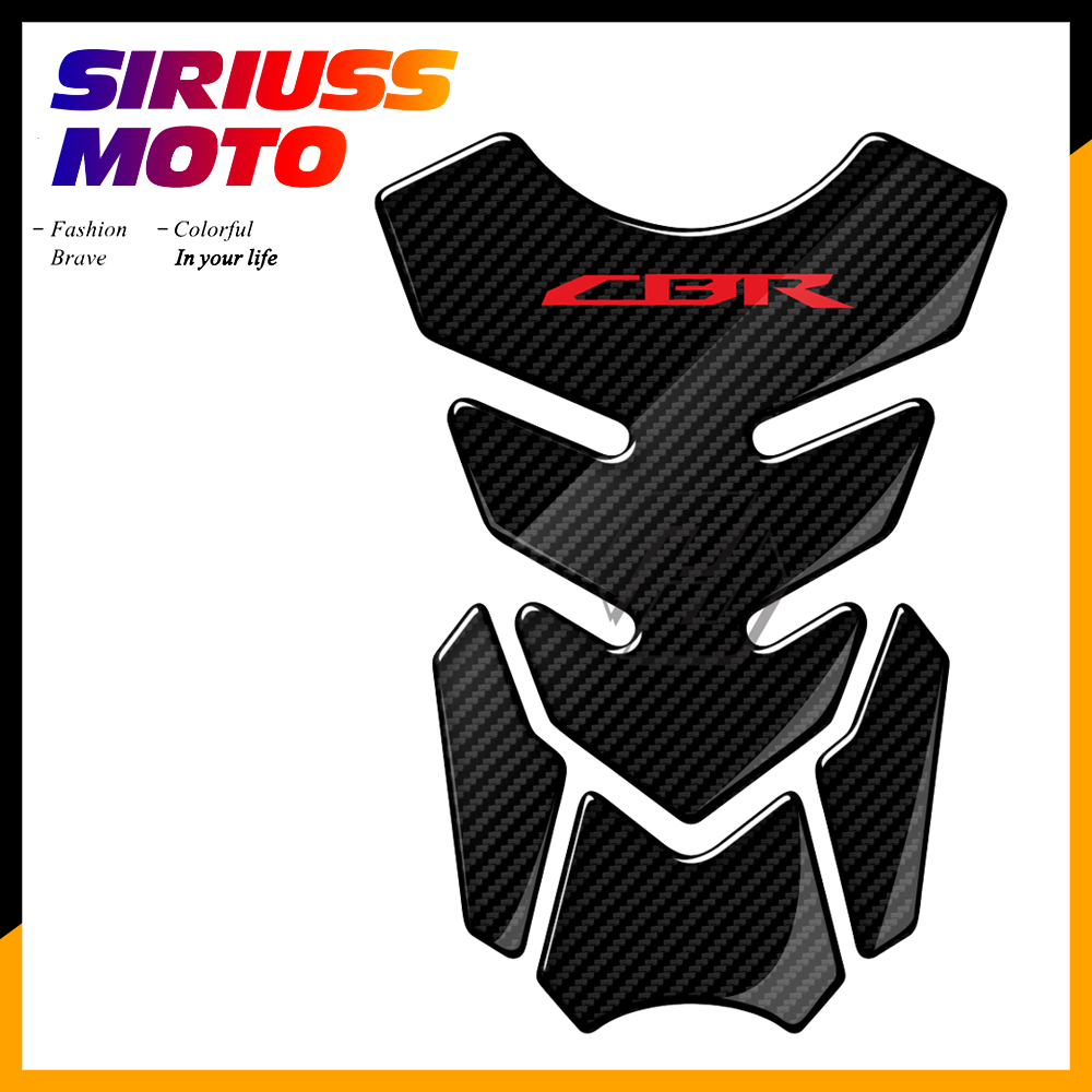 3D Carbon Look Motorcycle Tank Pad Protector Decal Stickers Case For Honda CBR 400 600 900 1000 RR 1100XX