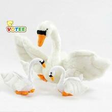 cute white swan plush toy simulation swan doll birthday gift 60cm or 30cm VOTEE