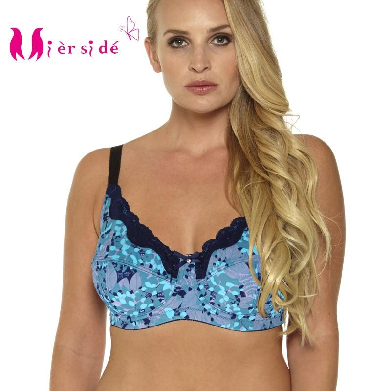 Mierside 953P Plus size Push Up Bra lingerie Lace Dot Underwear for Women Everyday Sexy Bra 34 46 C D DD DDD E F G in Bras from Underwear Sleepwears