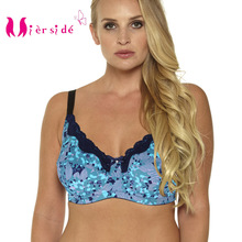 Mierside 953P Plus size Push Up Bra lingerie Lace Dot Underwear for Women Everyday Bralette 34-46 C/D/DD/DDD/E/F/G