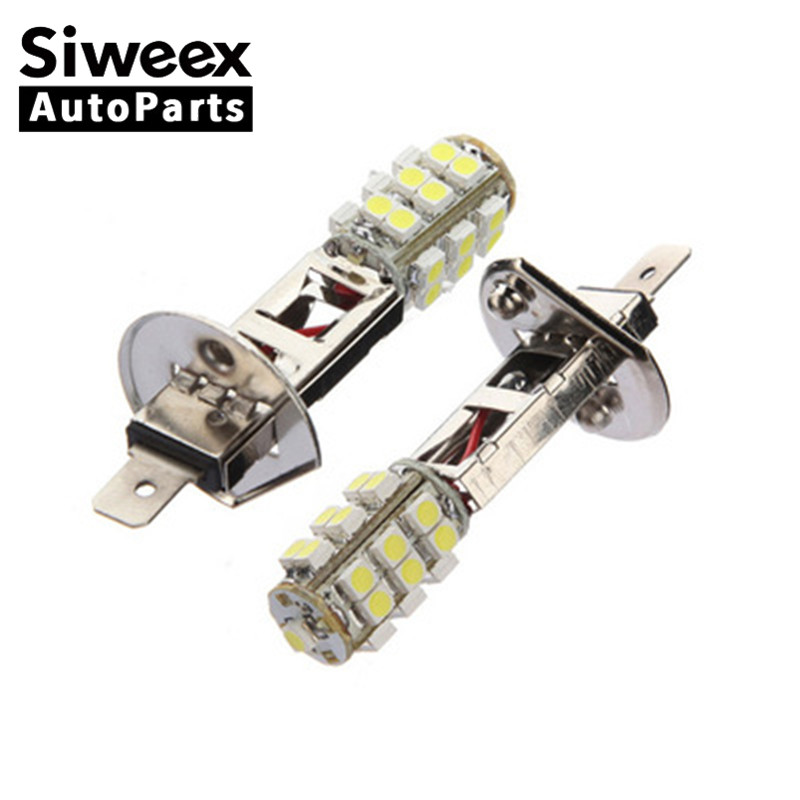 2pcs Bright White high quality H1 25SMD 3528 white LED Headlight / Fog Light 12V Replacement Bulbs Easy to install and stable