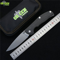Green Thorn Tabargan 100NS S35VN M390 Blade Axis Folding Knife Titanium Carbon Fiber Handle Camping Hunting