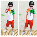 New Boys Clothing Sets Cotton Print Suit Sport Short sleeved + Shorts Suits Kids tracksuits for Children Aged 3-11