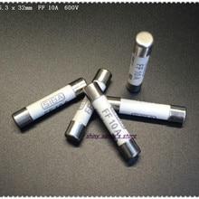 2pcs/Lot 6.3 x 32mm FF 10A 600V SIBA Ceramics Fuse Miniature Fuse For Multimeter Brand New
