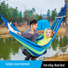 Outdoor Portable Sturdy Canvas Anti rolling Camping Hammock Dormitory Swing Back Yard Picnic Rest Recliner Hanging Sleeping Bed