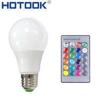 E27 Dimmable RGB LED Bulb Lamp 3W 5W 7W 16 Colors Bombillas Lamparas Light 220V With