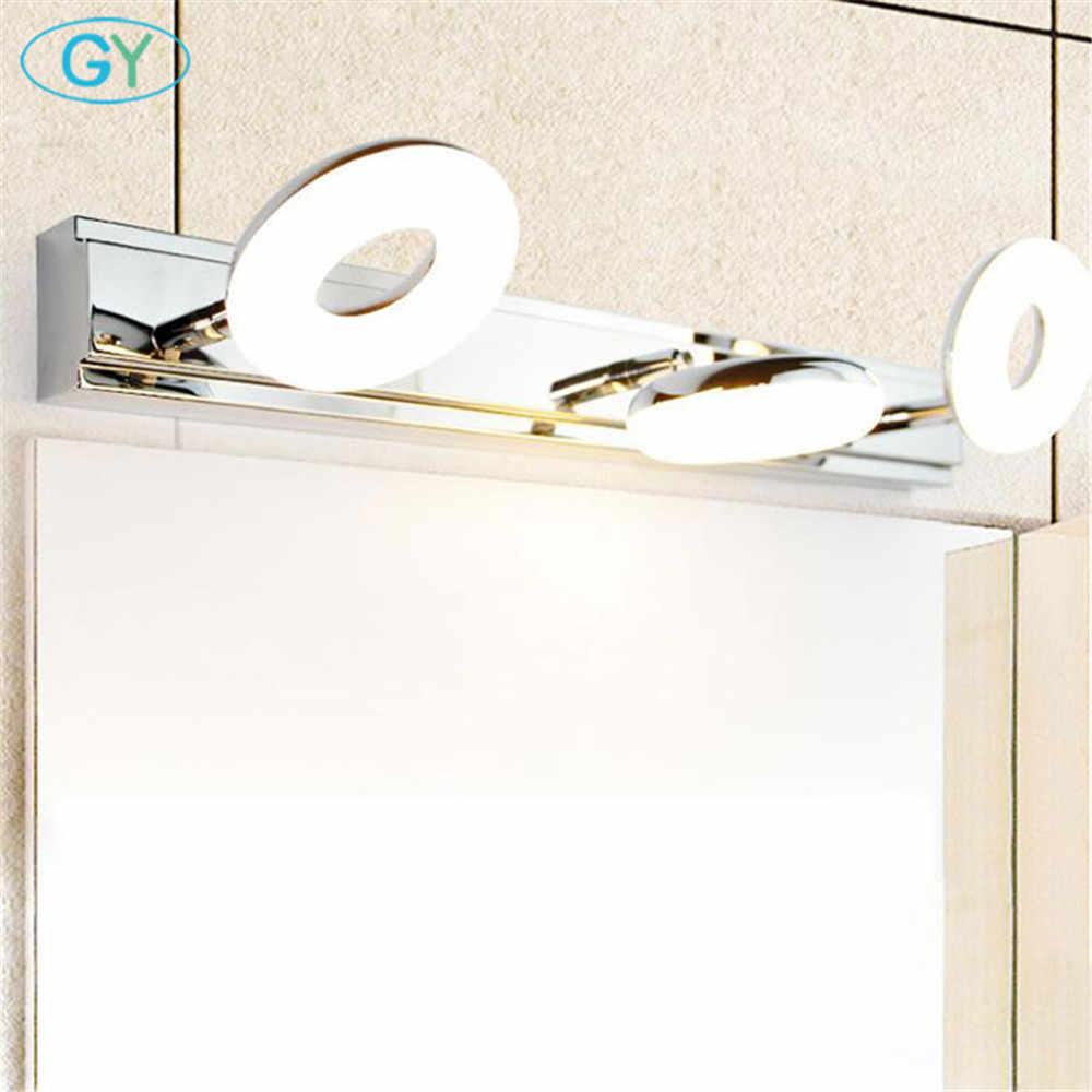 Современный светодиодный туалетное зеркало со светодиодной подсветкой художественное оформление косметические акриловые настенный светильник Ванная комната амбициозное освещение Водонепроницаемый AC85-260V Туалет бра