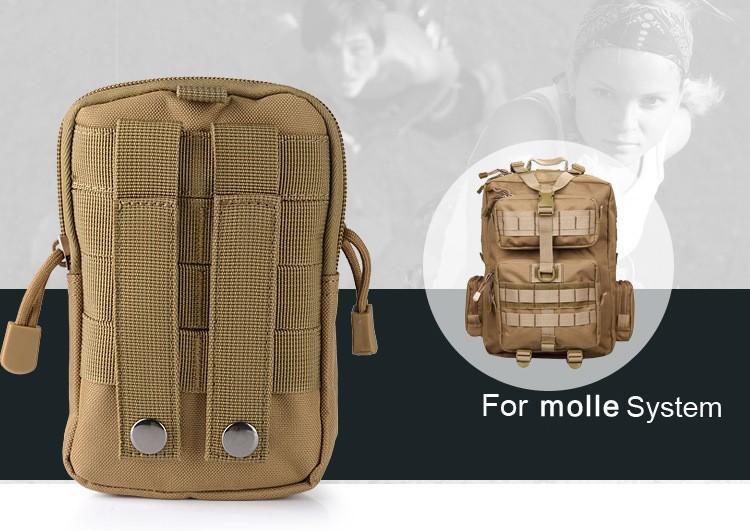 Uniwersalny Odkryty Wojskowy Molle Tactical Kabura Pasa Biodrowego Pasa Torba portfel kieszonki kiesy telefon etui z zamkiem błyskawicznym na iphone 7/lg 4