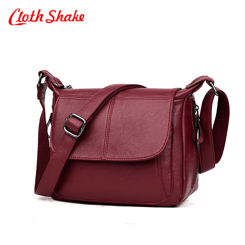 Cloth Shake Brand Casual Shoulder Bags Women Small Messenger Bags Ladies Fashion Design Handbag With Zipper Female Crossbody Bag