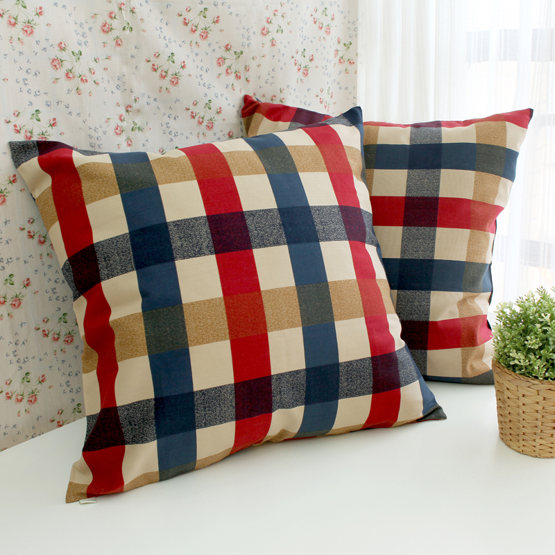 Europe Style Plaid Design Home Decorative Pillow Covers Room Decors Car  Throw Cushion Cover Bedding Set