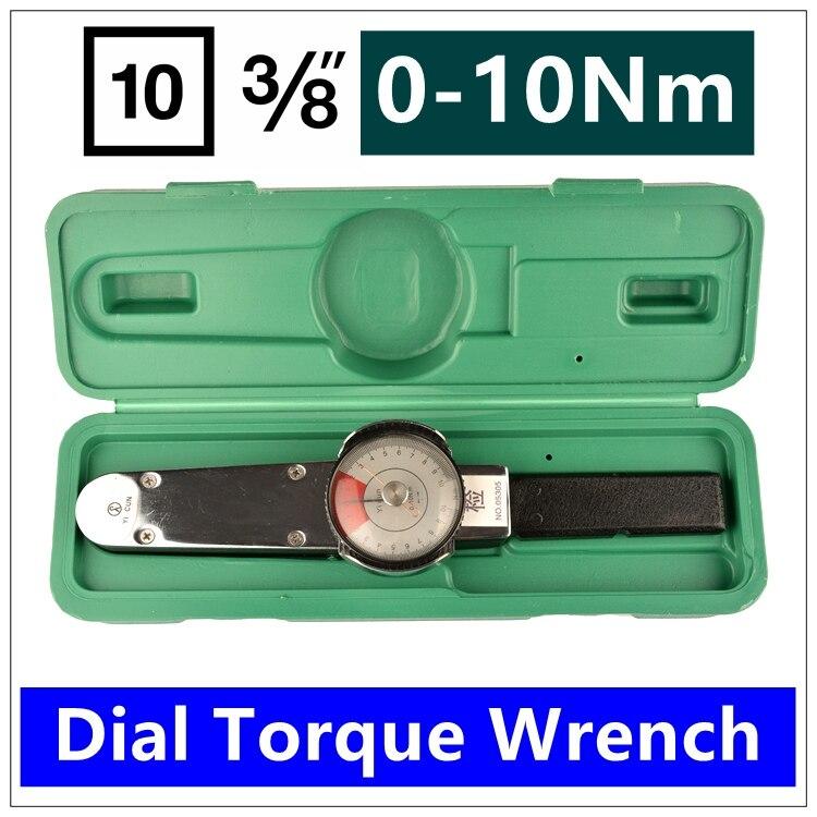 MXITA Dial torquímetro 3/8 0-10nm torque chave de Alta-precisão do ponteiro