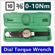 MXITA Dial llave de torsión llave de par de Alta precisión del puntero 3/8 0-10nm