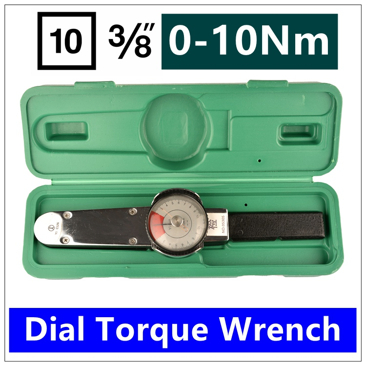 MXITA Dial torque spanner High precision pointer torque wrench 3/8 0 10nm