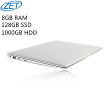 8 GB de Ram 128 GB SSD 1000 GB HDD Ultrafino Quad Core J1900 Correr Rápido Windows10 sistema Portátil Ordenador portátil, envío gratis