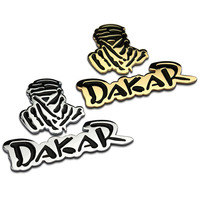 Auto Car 3D Emblem Chrome Sticker Decal Badge DAKAR Logo 2 Colors 100 Metal New Sport
