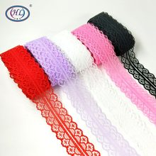 HL 10 yards 30mm Width Bilateral Craft Net Embroidery Ribbon Lace Wedding / Birthday  Christmas Bow Decorations