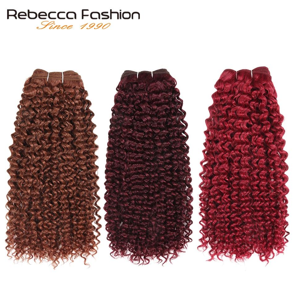brasileiro encaracolado tecer pacotes ombre marrom vermelho auburn loira cores extensões