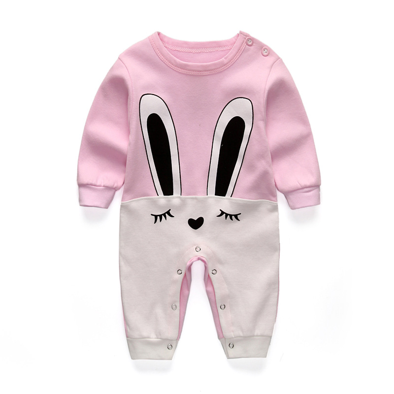 2017 hot new Cute rabbit Baby rompers long sleeve cotton jumpsuit baby infant cartoon newborn baby clothes romper clothing set cute minnie baby girl romper long sleeve baby clothes roupa infantil macacao ropa bebe jumpsuit baby rompers infant clothing