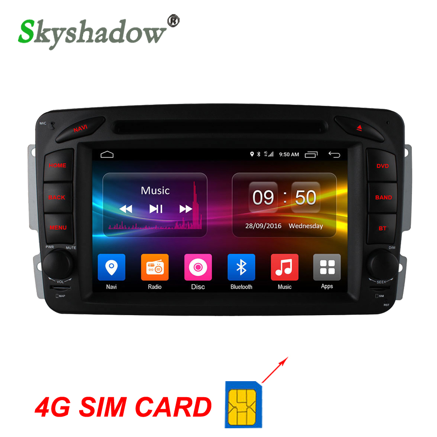 Flash Deal C500 4G SIM Android 6.0 8 Core 2GB RAM Car DVD Player RDS Radio GPS Map WIFI Bluetooth For Benz W163 W168 Viano Vito W463 W210 0
